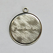 Sterling Silver Wells Grandmother Charm Ready to Engrave