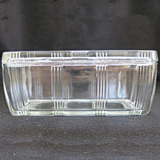 Vintage Rectangular Hazel Atlas Criss Cross Covered Refrigerator Dish