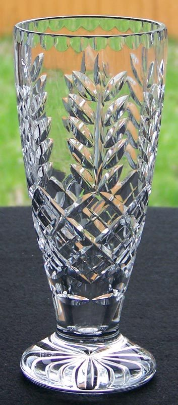 Royal Doulton Crystal Vase - Signed Royal Doulton England