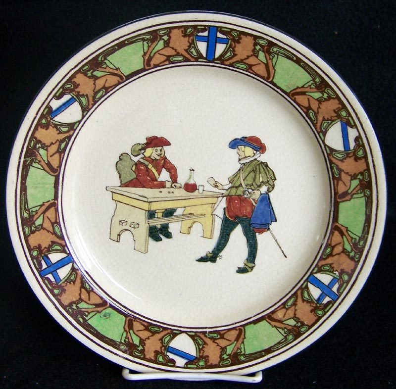 Royal Doulton New Cavaliers Series Ware Plate - Men Playing Dice