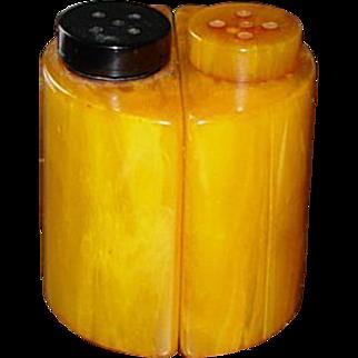 Art Deco Stylized Bakelite Salt and Pepper Shakers