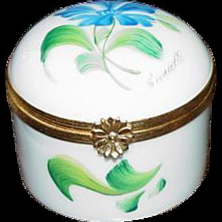 Signed Limoges France Porcelain Trinket Box