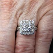 Lady's 14K White Gold & Diamond Ring