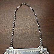 Victorian Sterling Calling Card Case Ornate Design