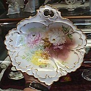 Exquisite Limoges Handpainted Shallow Bowl or Dish