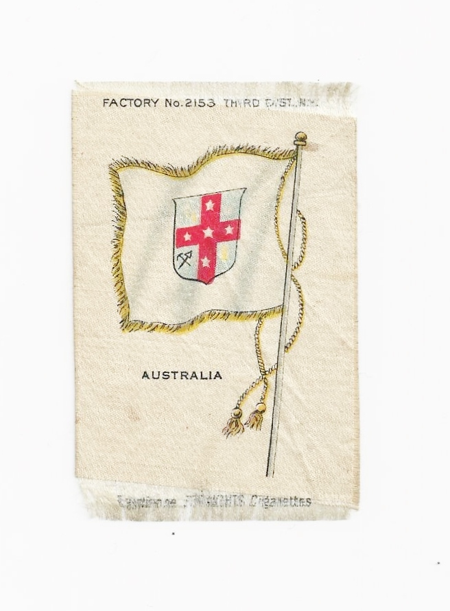 Colonial British Empire - c1820's  Australia Colony Flag - Vintage Early 1900's Egyptienne Cigarette Silk - American Tobacco Company Advertising Premium