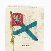 1820-1917 Kingdom of Poland National Flag - Vintage Early 1900's Sovereign Cigarette Silk - American Tobacco Company Advertising Premium