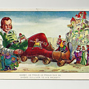 1939  Gulliver's Travels Cartoon Postcard - Paramount Feature Animated Movie - 1944  World War Two Postage and Whitstable, Kent Postmark - Colchester,  Essex Address - Birthday Greeting - RARE