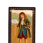 1890s Victorian Birthday Colonial Boy Greeting Card Album Scrap - Saint Louis, Missouri