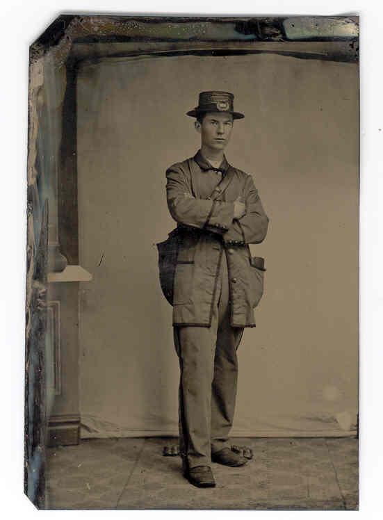 c1870 United States Postal Worker Tintype Photograph-Rare