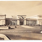 1930s San Francisco Vintage RPPC Real Photo Postcard - California Palace of the Legion of Honor – Art Museum – Vintage Unused