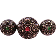 Victorian 800 Silver Etruscan Revival Bar Pin