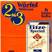 Coffee advertisement. Austrian poster of the 30ies