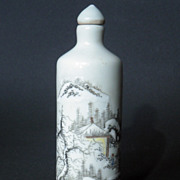 Old Chinese Snuff Bottle enameled Porcelain