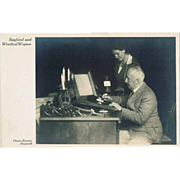 Winifred Wagner and Siegfried Wager Postcard