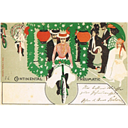 Continental Advertising Postcard with Bikers