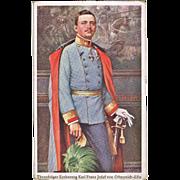 Charles I of Austria, Heir to the Throne, Vintage Postcard