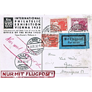 International Philatelic Exhibition 1933: Austrian Air Mail.