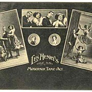 Les Henry's Modern Dance Act: Advertising Postcard from ca. 1910