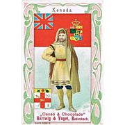 Canada: Art Nouveau Chocolate Trading Card