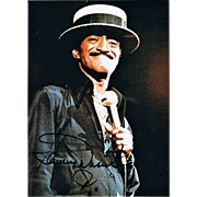 Sammy Davis Junior Autograph on Color Photo. CoA
