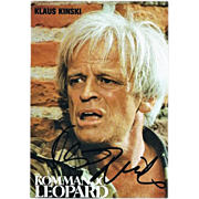 Klaus Kinski Autograph: Hand-signed Print. CoA.