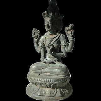 Antique Angkor Statuette 13. Ct
