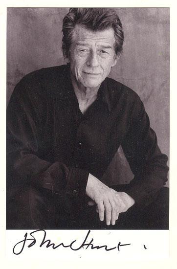 John Hurt Autograph. Hand signed Photo. CoA