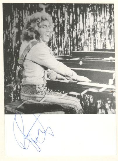 Roger Daltrey Autograph. Signed 1980 in Wien.