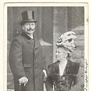 1899: Emperor Wilhelm and Wife in London. Vintage Postcard.