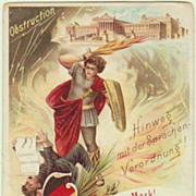 Scarce Propaganda Postcard from Imperial Austria Period. Lithographed