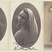 3 Photos of an attractive Actress and Dancer: Studio Photos, 1920s