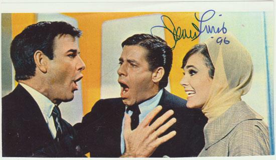 Jerry Lewis Autograph. CoA