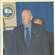 George P. Shultz Autograph. CoA