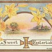 2 embossed Easter Greeting Postcards.