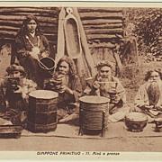 Japanese Ainu Minority: Vintage Postcard.