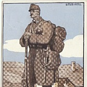 W.W.I.: Litho Promotion Postcard for Disabled Ex-Service Men. Artist signed.