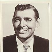 Clark Gable Vintage Photo. 1950s. 5 x 7