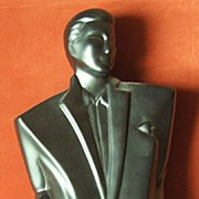 Art Deco Bust in black. Fashion Topic. Young Man