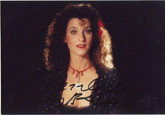 Agnes Baltsa Autograph. CoA