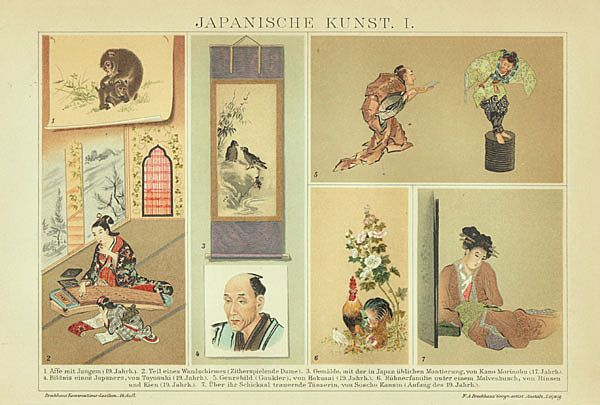Japanese Fine Arts: Fine Chromolithograph from 1898