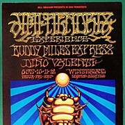10 scarce Posters Jimi Hendrix and others. Bill Graham 1968