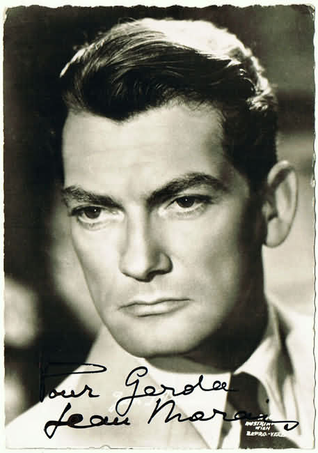 Jean Marais Autograph on old Austrian Photo Postcard