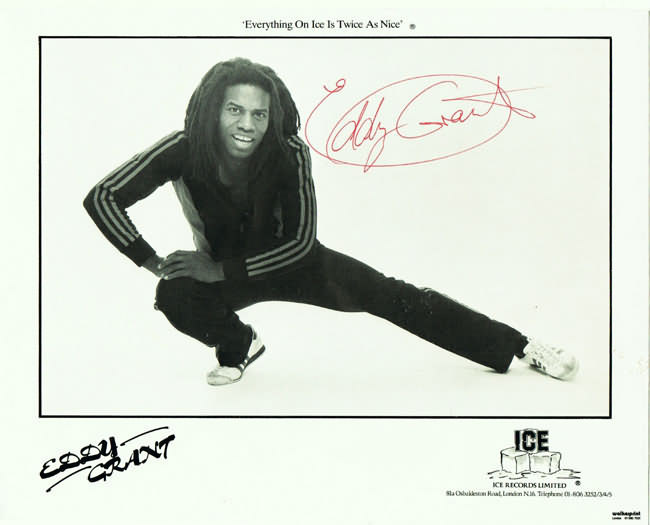 Eddy Grant Autograph. Hand signed 10 x 8 Photo. CoA