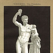 Hermes Torso. Decorative Lithograph from 1900