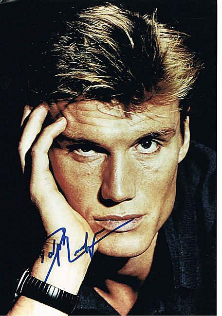 Dolph Lundgren Autograph on 8 x 12 Photo. CoA