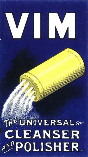Vim. Poster Style Advertising for Detergent