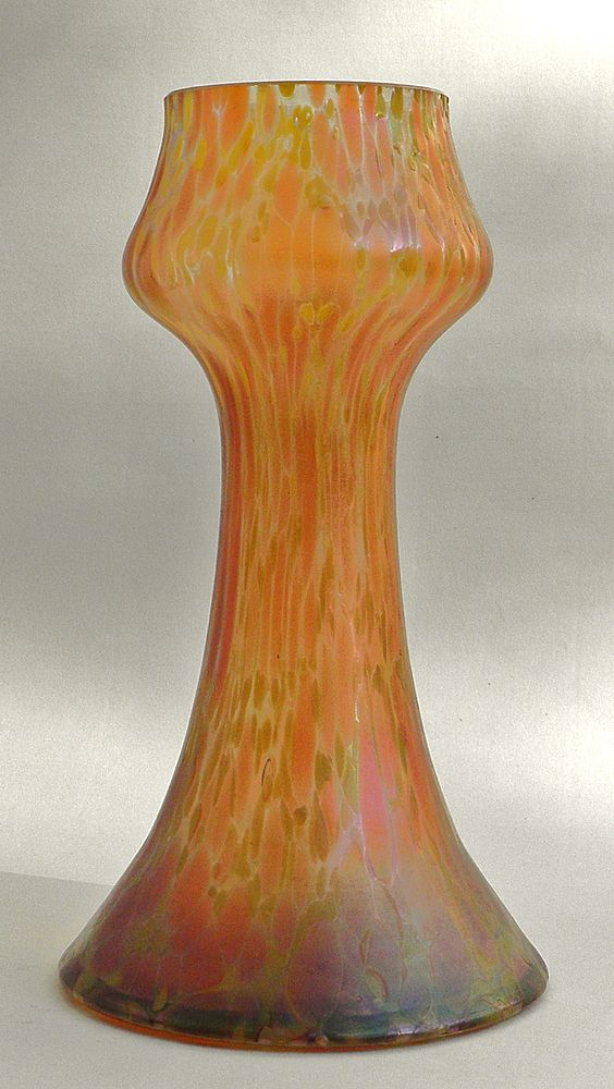 Art Nouveau Vase with Iriscent Finish