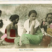 Filipino Washerwomen. Tinted Postcard from app. 1910