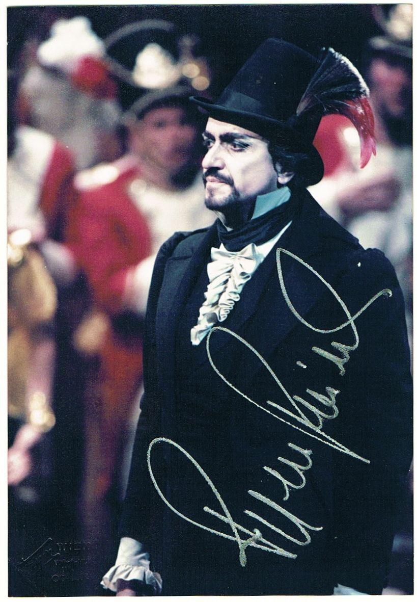 Ruggero Raimondi Autograph from 1985. CoA